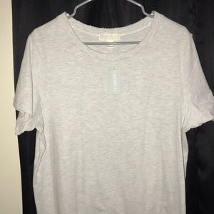Light Grey Knit Top w/ Distress on Neck and Arms